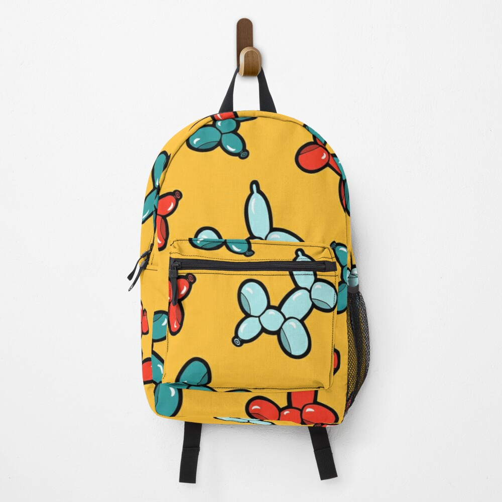 Balloon Animal Dogs Pattern in Yellow Backpack