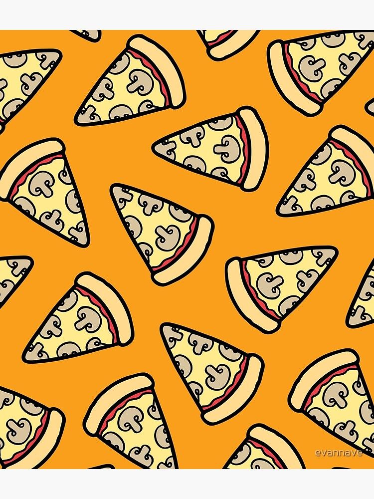 Mushroom Pizza Pattern by evannave