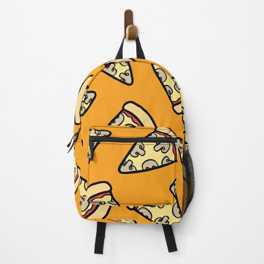 Mushroom Pizza Pattern Backpack