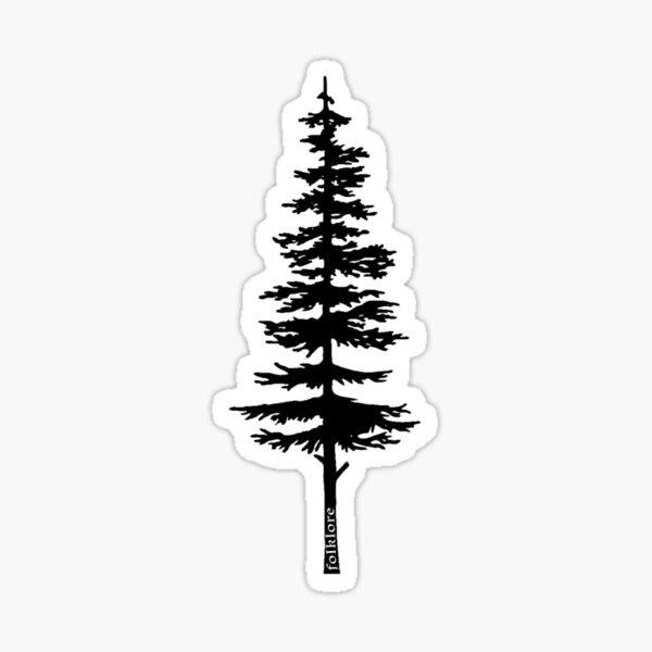 Taylor Swift Folklore Inspired Fir Tree Art Sticker