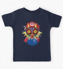 Mario wearing Majora's Mask Kids Tee