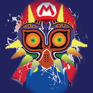 Mario wearing Majora's Mask by Link270