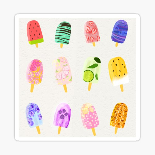 Popsicle Pattern Sticker