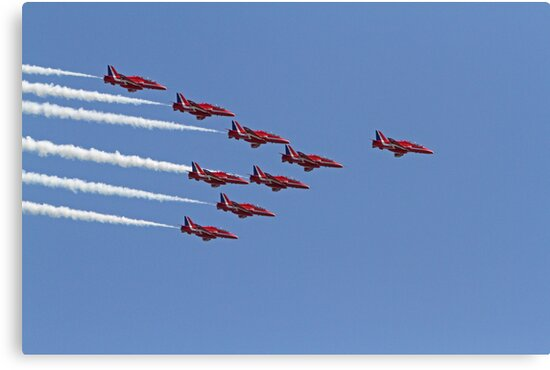 The red arrows at Air Bourne in Eastbourne by Keith Larby