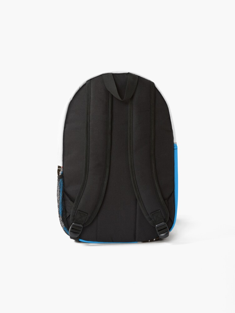 Alternate view of Sushi Soy Fish Pattern in Blue Backpack