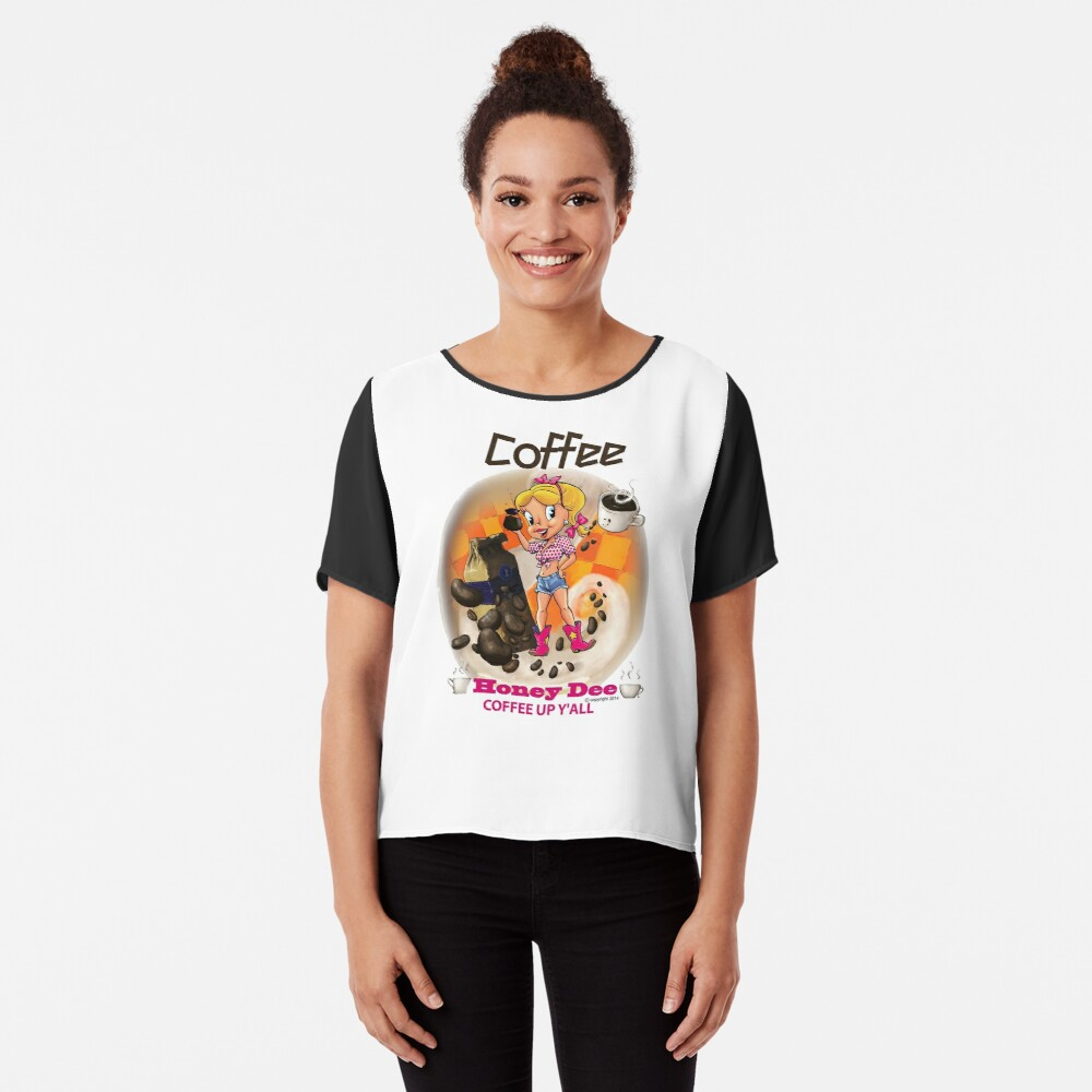 Coffee Up Y'all With Honey Dee Chiffon Top