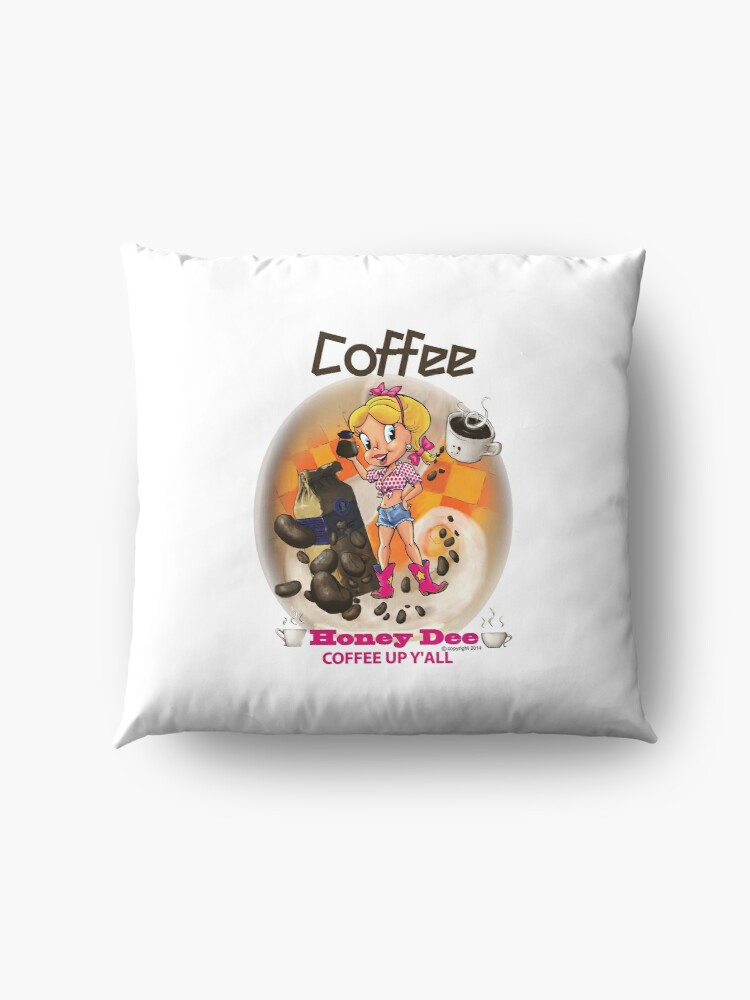 Alternate view of Coffee Up Y'all With Honey Dee Floor Pillow