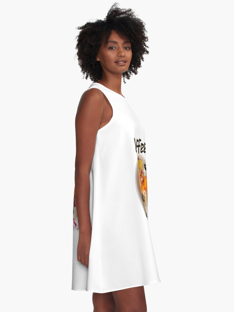 Alternate view of Coffee Up Y'all With Honey Dee A-Line Dress