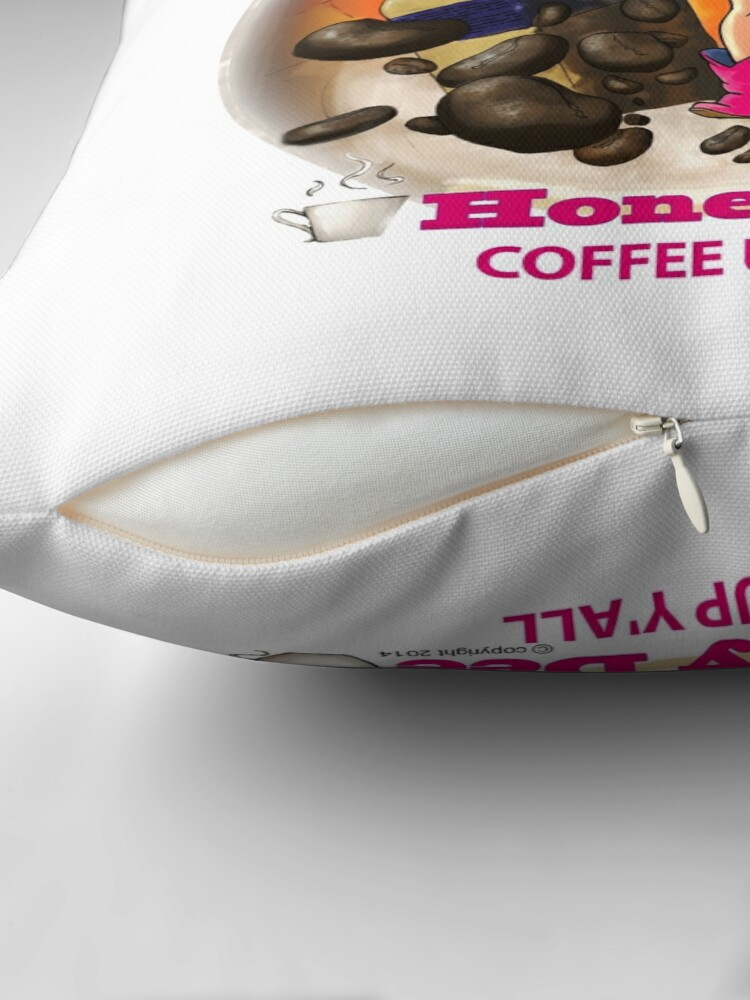 Alternate view of Coffee Up Y'all With Honey Dee Throw Pillow