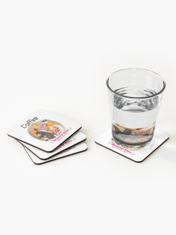 Alternate view of Coffee Up Y'all With Honey Dee Coasters (Set of 4)
