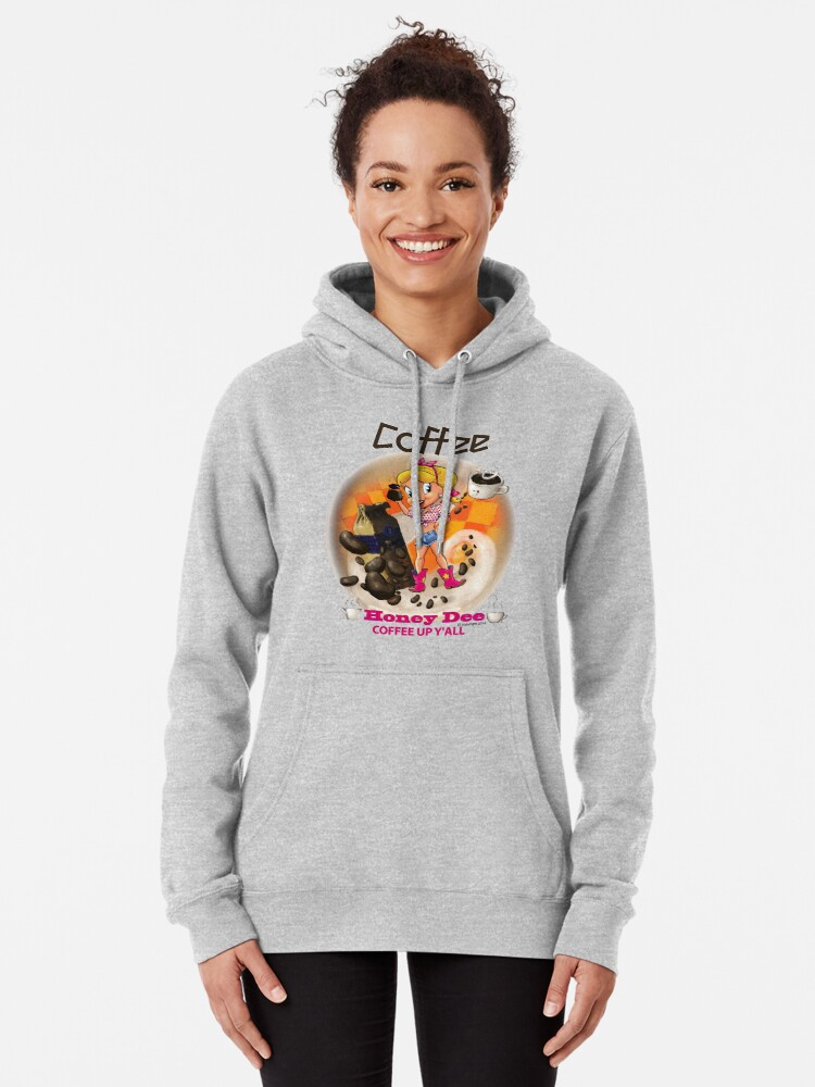 Alternate view of Coffee Up Y'all With Honey Dee Pullover Hoodie