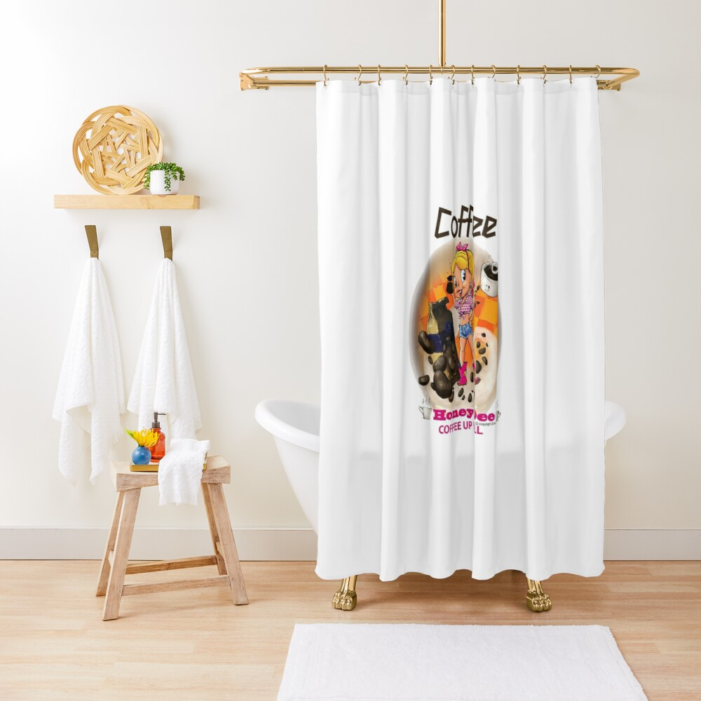 Coffee Up Y'all With Honey Dee Shower Curtain