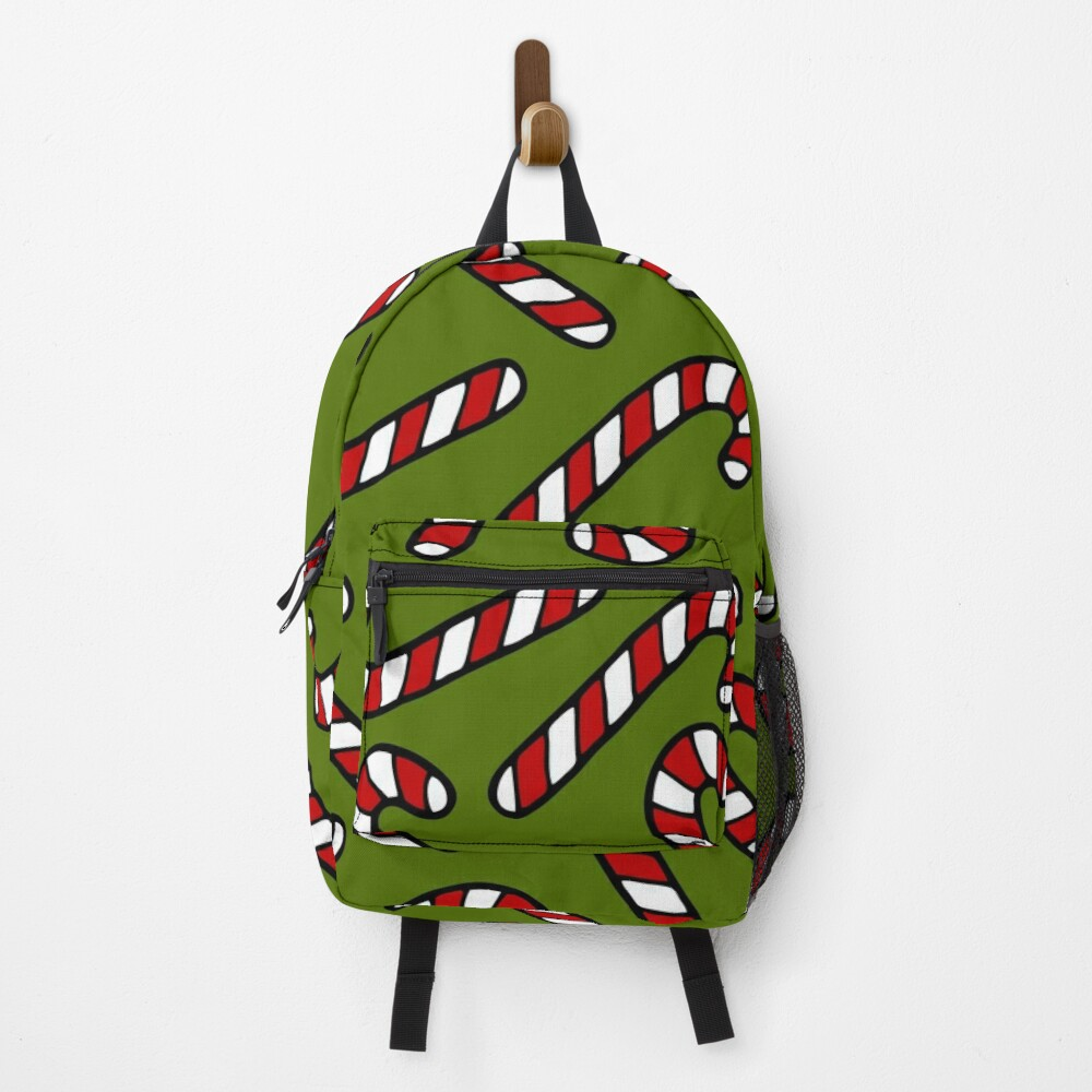 Candy Cane Pattern Backpack