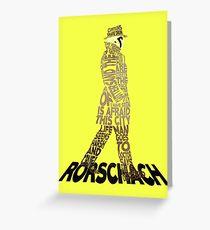 Watchmen - Rorschach Typography Greeting Card