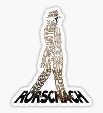 Watchmen - Rorschach Typography Sticker