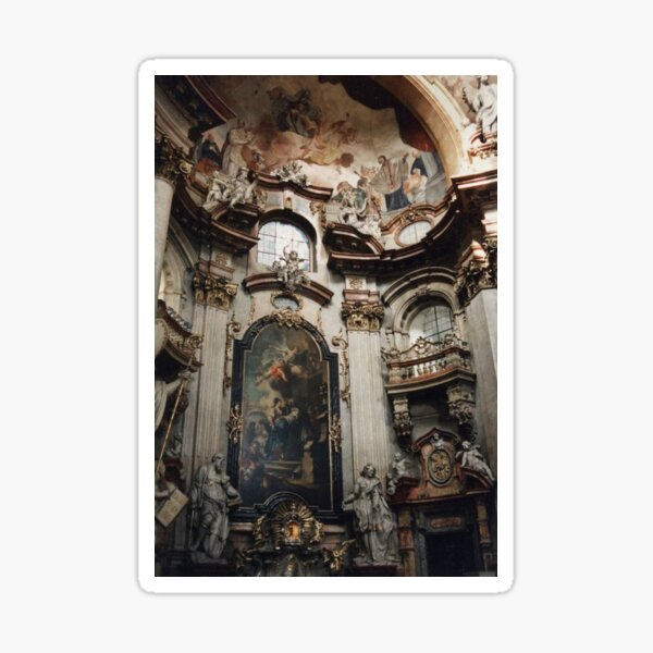 Ancient Royal Church gold paintings Sticker