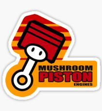 Mario Kart 8 Mushroom Piston Engines - Square Sticker