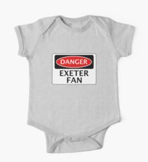 DANGER EXETER CITY, EXETER FAN, FOOTBALL FUNNY FAKE SAFETY SIGN One Piece - Short Sleeve