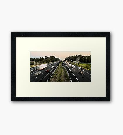 Busy People Framed Print