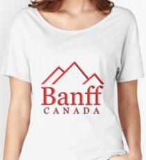 Banff Alberta Canada Logo Women's Relaxed Fit T-Shirt