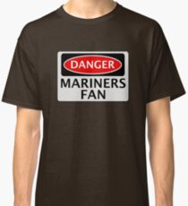 DANGER GRIMSBY TOWN, MARINERS FAN, FOOTBALL FUNNY FAKE SAFETY SIGN Classic T-Shirt