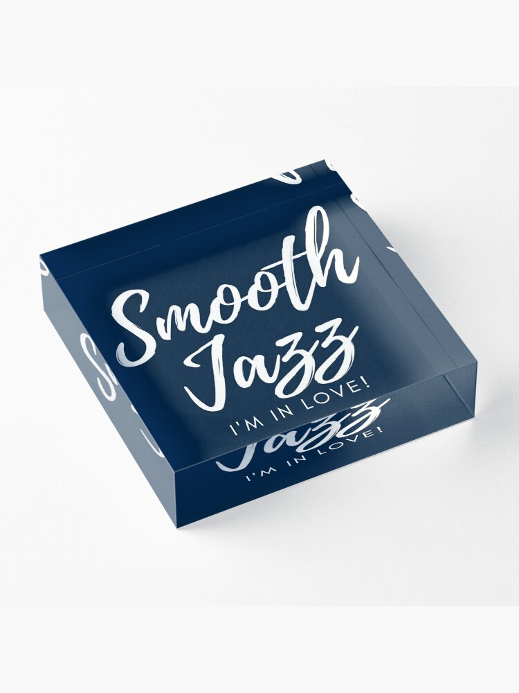 Alternate view of TheCoffeeCupLife: Smooth Jazz I'm in Love Blue Acrylic Block