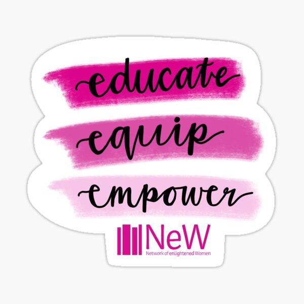 Educate Equip Empower Sticker