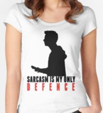 Stiles Stilinski - Sarcasm is my only defence Women's Fitted Scoop T-Shirt