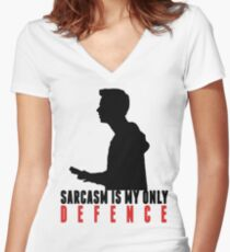 Stiles Stilinski - Sarcasm is my only defence Women's Fitted V-Neck T-Shirt