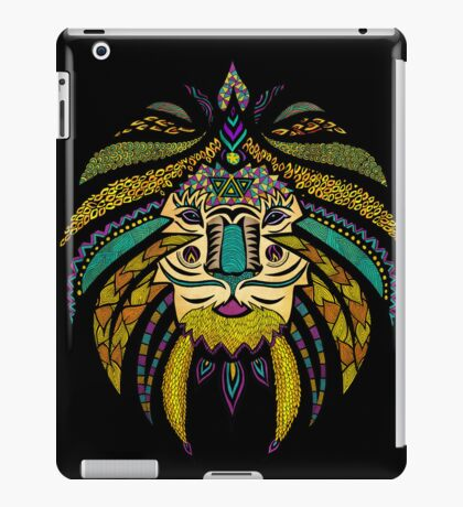 Emperor Tribal Lion Black iPad Case/Skin