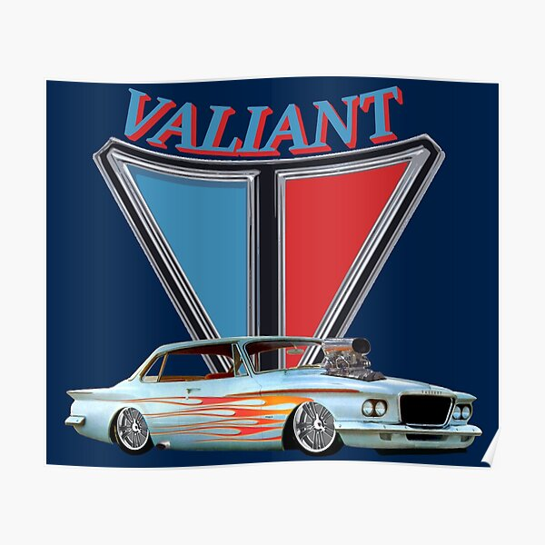 1962 Vintage Classic Pro Street Plymouth Valiant Poster