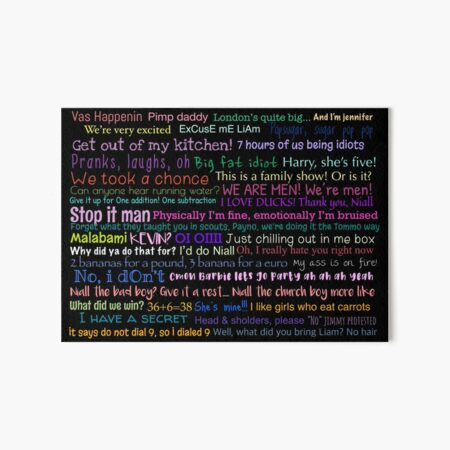 One direction Quotes Art Board Print