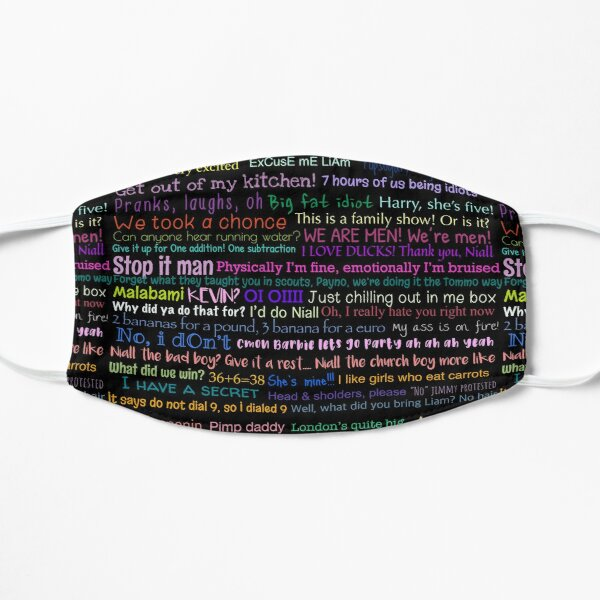 One direction Quotes Flat Mask