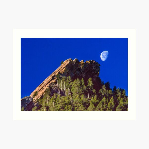 First Flatiron Moonset Art Print