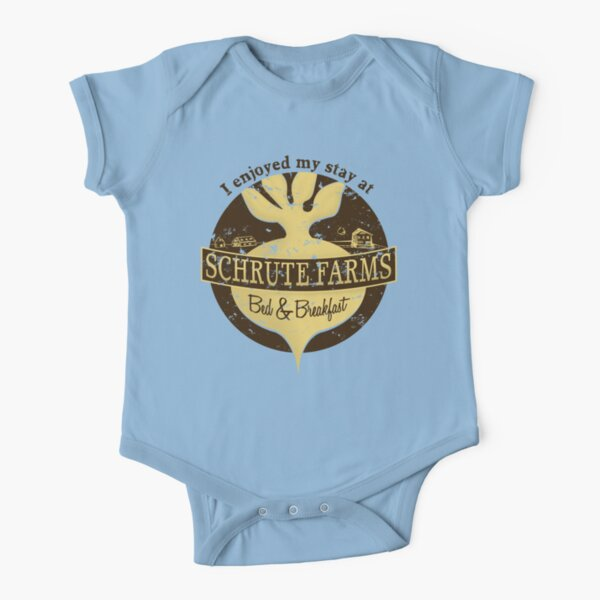 I enjoyed my stay at Schrute Farms (Brown) Short Sleeve Baby One-Piece
