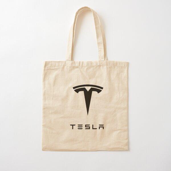 Tesla Logo Cotton Tote Bag