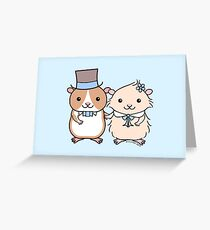 Hamster Wedding Couple Greeting Card