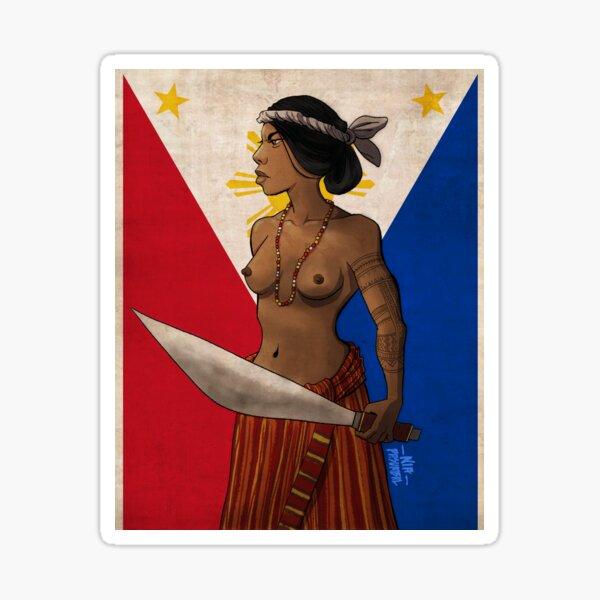 Filipina Independence Sticker