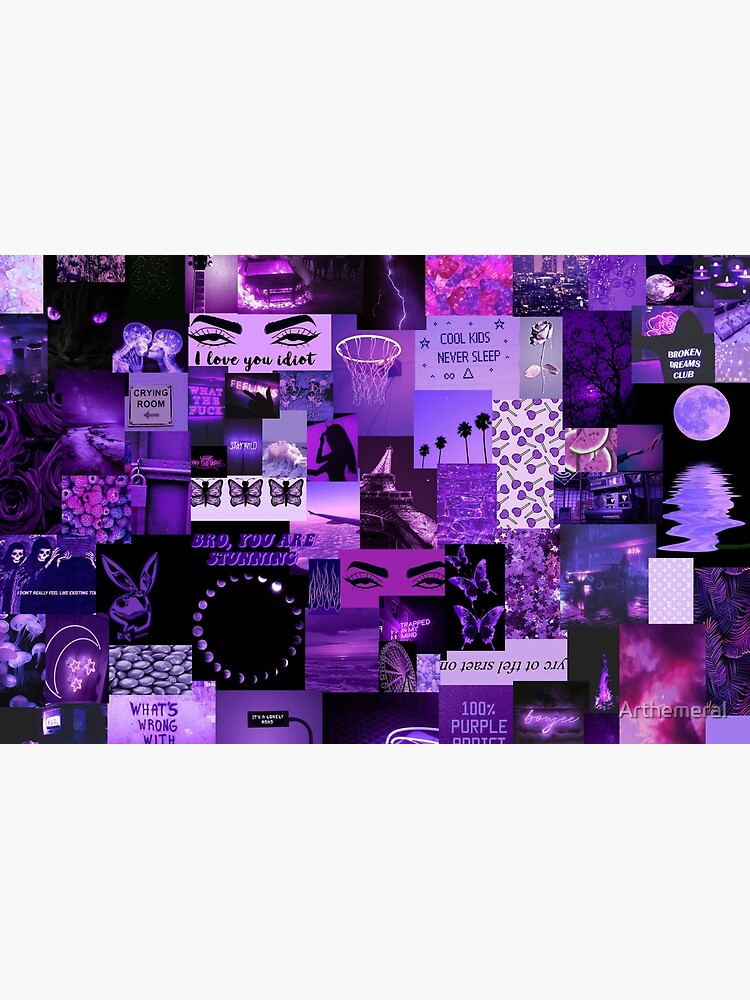 Purple Aesthetic Collage Laptop Skin By Arthemeral Redbubble See more ideas about aesthetic backgrounds, aesthetic, pixel art. redbubble