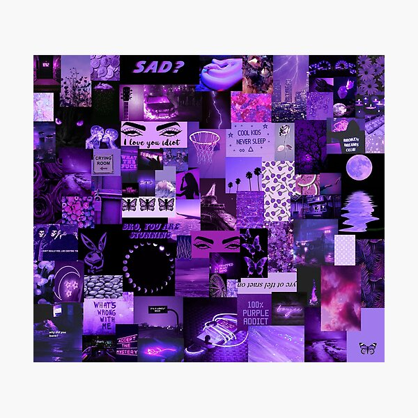 Purple Aesthetic Edit Photographic Print By Kyra8214 Redbubble