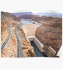 Hoover Dam from Bridge Poster