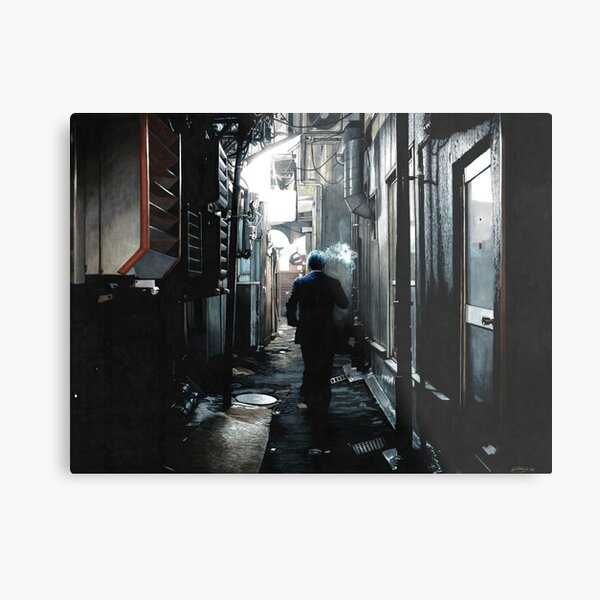 Dark alley Yakuza Metal Print