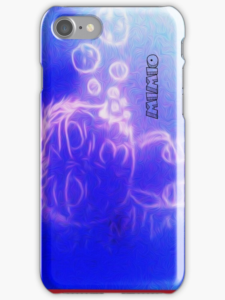 mimio in the icy sea iphone case by Factocowork2