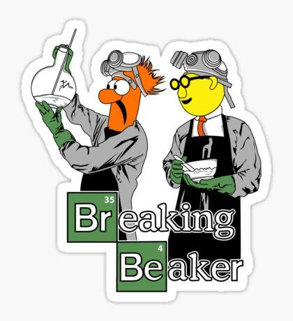 Breaking Beaker Sticker