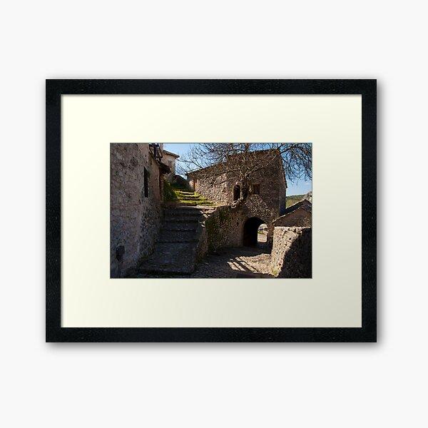Pocitelj. A house in the rock  Framed Art Print