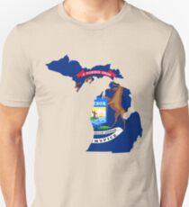 Michigan | Flag State | SteezeFactory.com Unisex T-Shirt