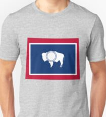 Wyoming | Flag State | SteezeFactory.com Unisex T-Shirt
