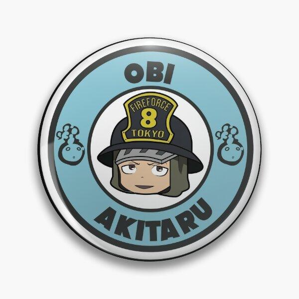 FIRE FORCE: OBI AKITARU CHIBI Pin