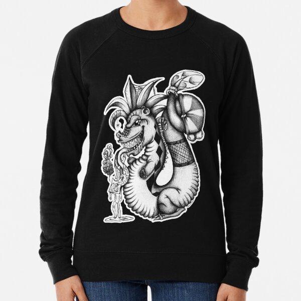 Black and white Freaky Dragon Lightweight Sweatshirt