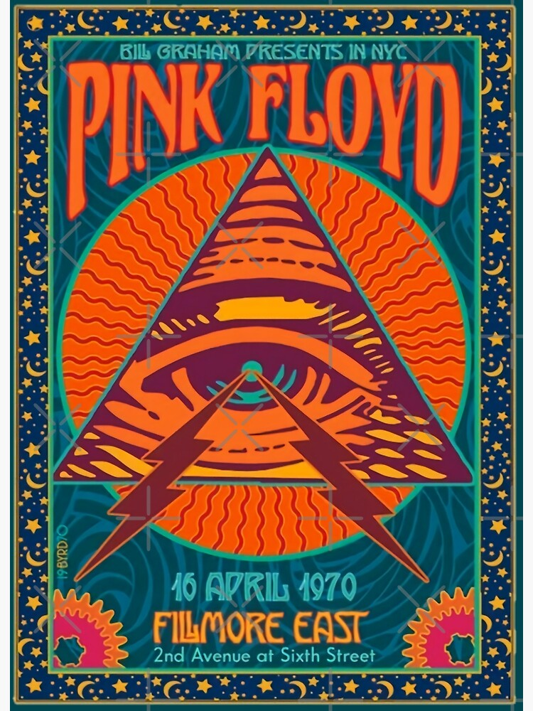 PINK FLOYD CONCERT AUTHENTIC POSTER NYC FILMORE EAST 1970 by VINTAGEGARAGE